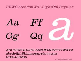 URWClarendonW01-LightObl
