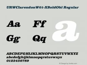 URWClarendonW01-XBoldObl