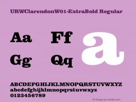 URWClarendonW01-ExtraBold
