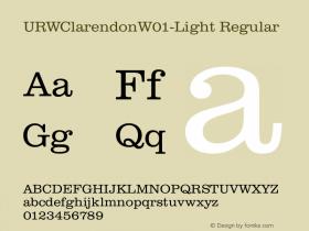URWClarendonW01-Light