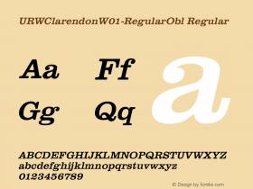 URWClarendonW01-RegularObl