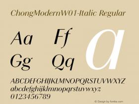 ChongModernW01-Italic