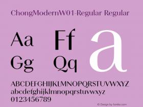 ChongModernW01-Regular
