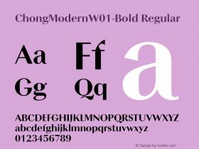 ChongModernW01-Bold