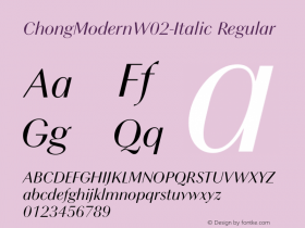 ChongModernW02-Italic