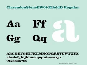 ClarendonStencilW01-XBoldD