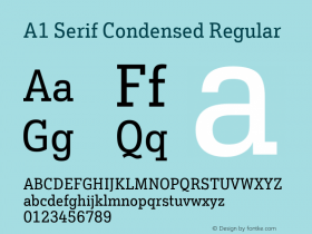 A1 Serif Condensed
