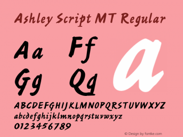 Ashley Script MT