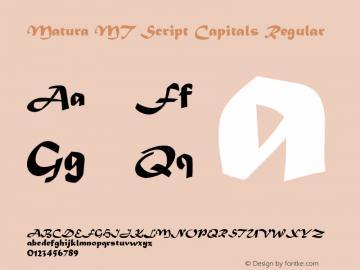 Matura MT Script Capitals