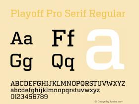 Playoff Pro Serif