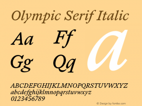 Olympic Serif