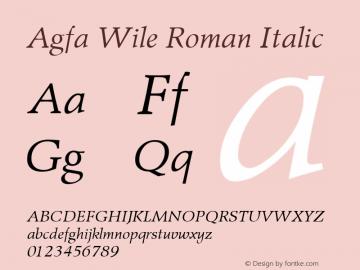 Agfa Wile Roman