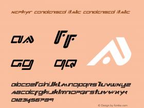 Xephyr Condensed Italic