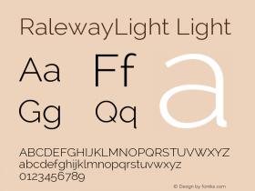 RalewayLight