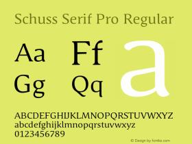 Schuss Serif Pro