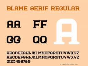Blame Serif