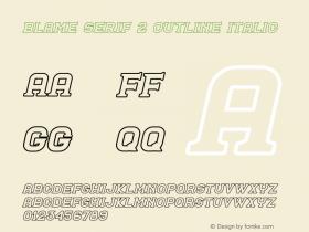 Blame Serif 2 Outline