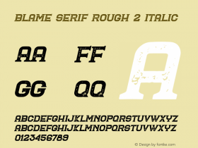 Blame Serif Rough 2