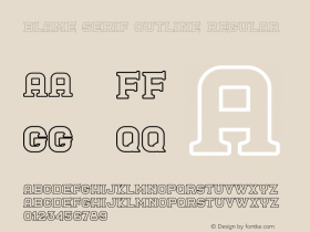 Blame Serif Outline