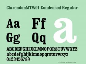 ClarendonMTW01-Condensed