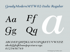 GoudyModernMTW02-Italic