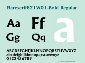 Flareserif821W01-Bold