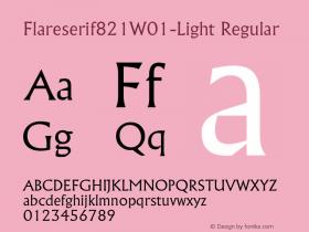 Flareserif821W01-Light