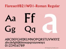 Flareserif821W01-Roman