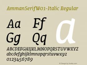 AmmanSerifW01-Italic