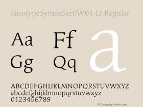 LinotypeSyntaxSerifW01-Lt