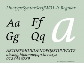 LinotypeSyntaxSerifW01-It