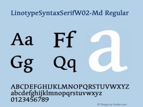 LinotypeSyntaxSerifW02-Md