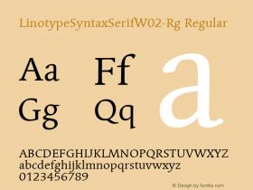 LinotypeSyntaxSerifW02-Rg