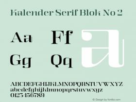 Kalender Serif