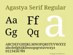 Agastya Serif