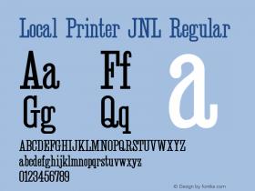 Local Printer JNL