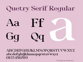 Quetry Serif