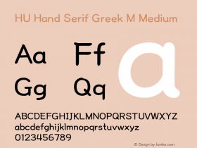 HU Hand Serif Greek M