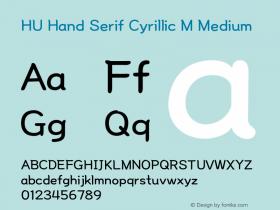 HU Hand Serif Cyrillic M