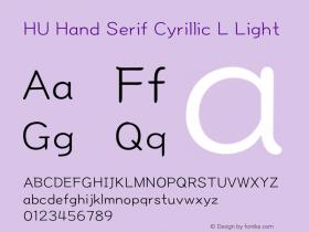 HU Hand Serif Cyrillic L