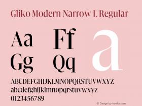 Gliko Modern Narrow L