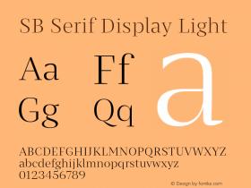 SB Serif Display