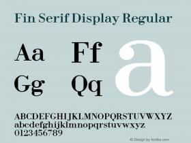 Fin Serif Display