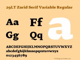 29LT Zarid Serif Variable