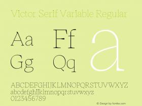 Victor Serif Variable