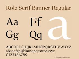 Role Serif Banner