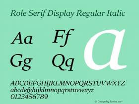 Role Serif Display