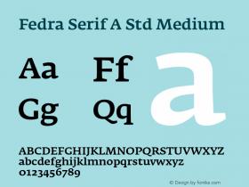 Fedra Serif A Std