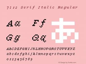 7:12 Serif Italic