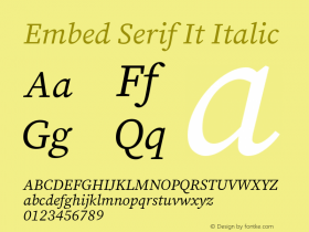 Embed Serif It